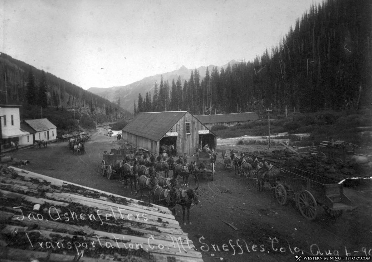 Ashenfelters Transportation Co Sneffels, Colorado 1890