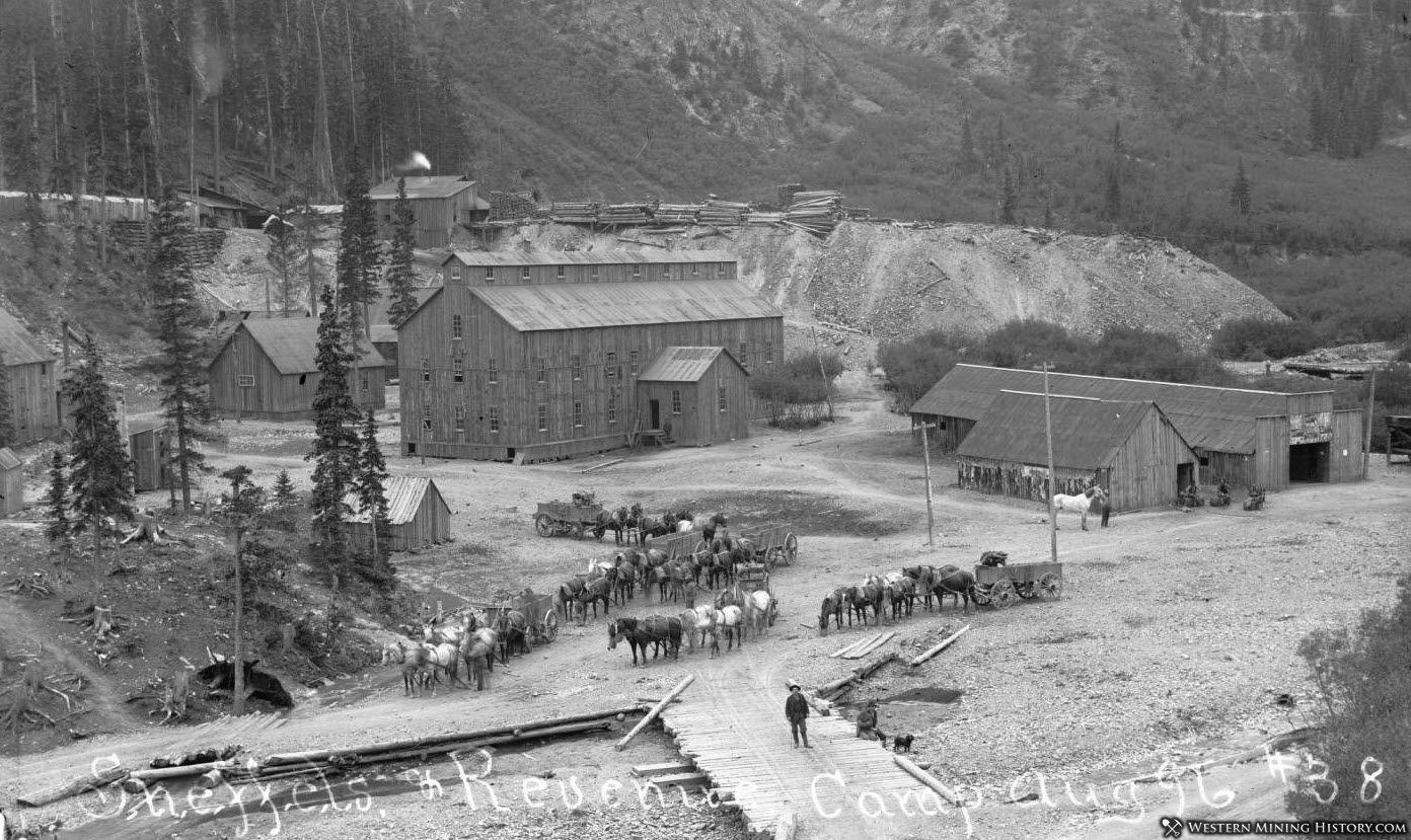 Revenue Mill and mine complex in Sneffels Colorado 1896
