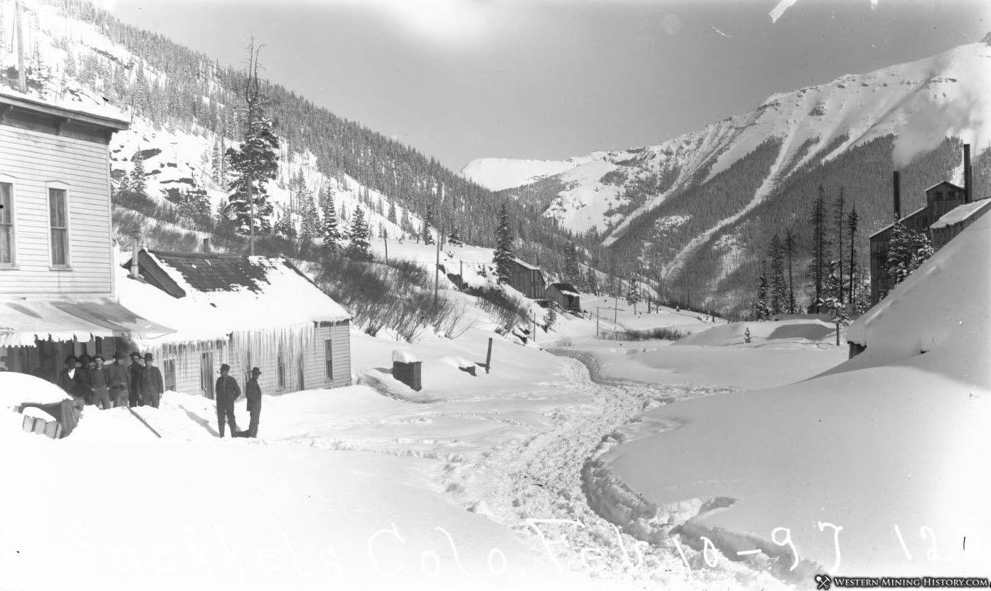 Winter scene at Sneffels, Colorado 1897