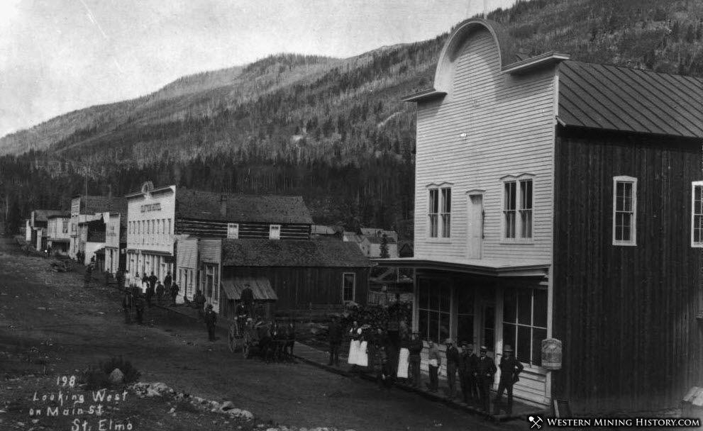 Looking West on Main Street - St. Elmo Colorado