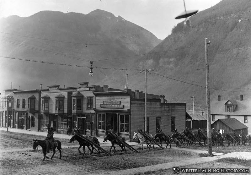 Pack Train - Telluride Colorado 1909