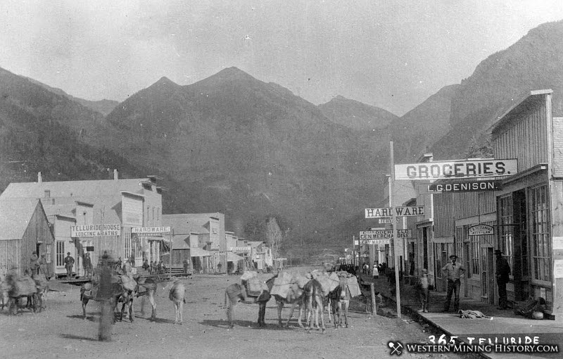 Early view of Telluride Colorado