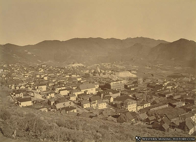 Virginia City seen from the water flume