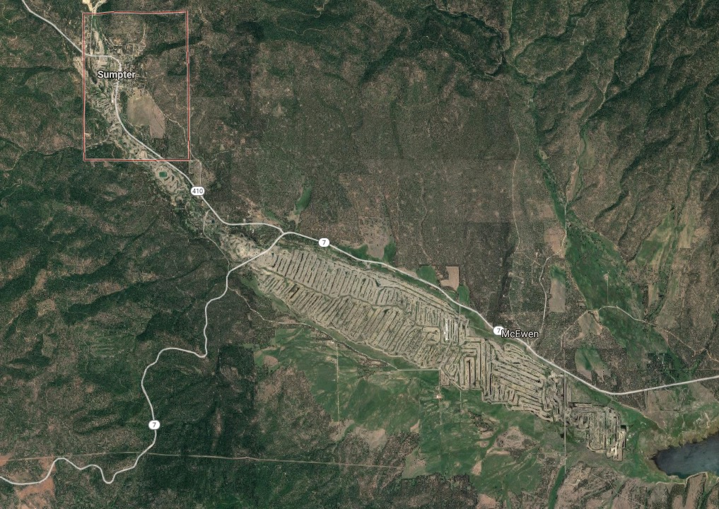 Sumpter valley tailings piles