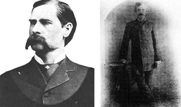Wyatt Earp (left) and Doc Holliday