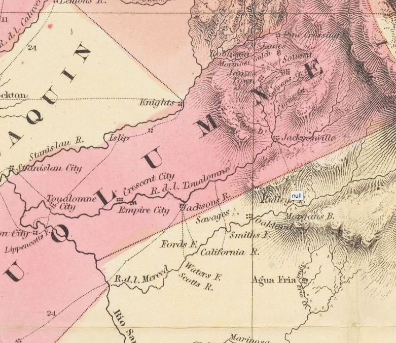 Tuolumne County, California in 1851