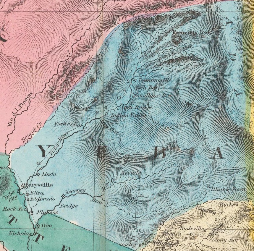 Yuba County, California in 1851