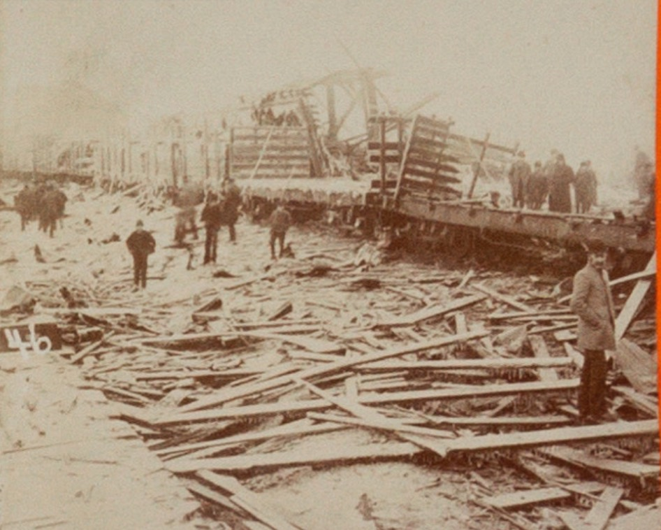 Devastation at the Butte Rail Yards