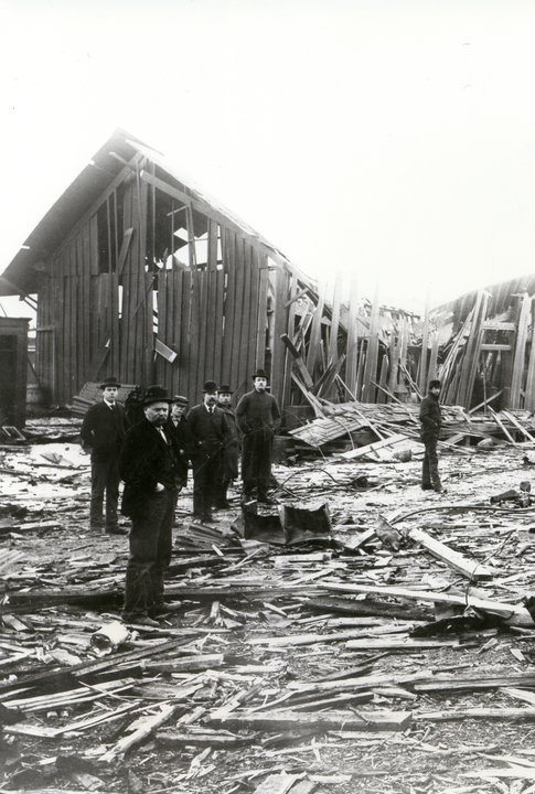 Devastation at the Site of the 1895 Butte Explosion and Fire