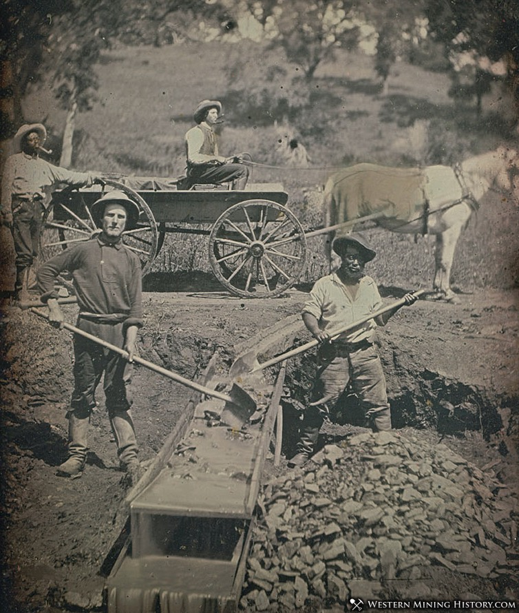 Placer Miners at Spanish Flat, California 1852