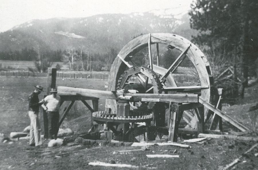 Arrastra on Shackleford Creek - Siskiyou County, California 1946