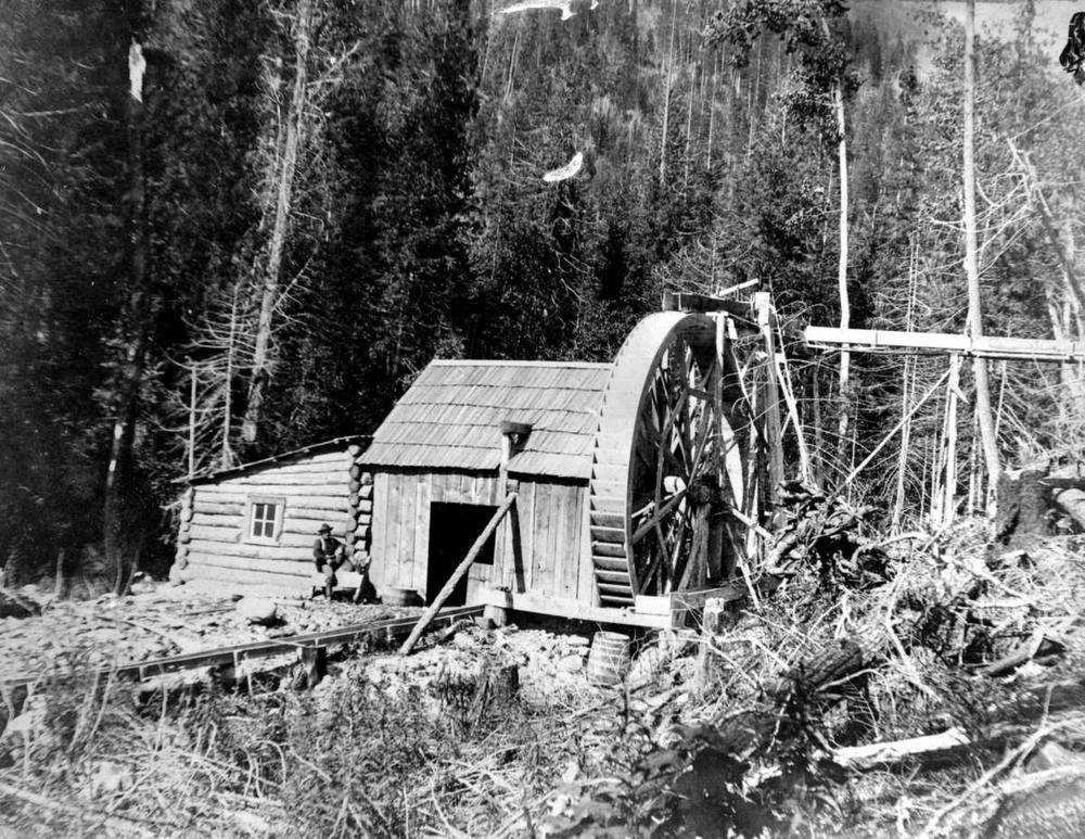 Water powered Arrastra at the Dardanell Mine - East Kootenay Region, British Columbia
