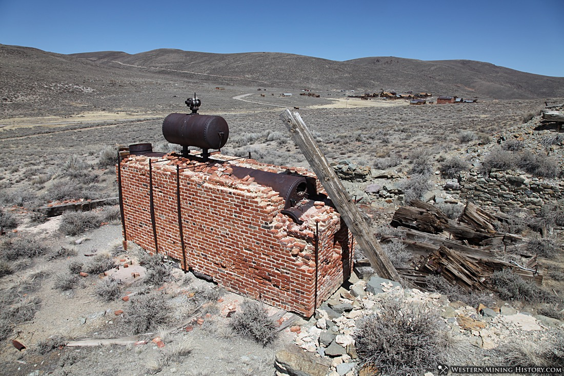 Boiler at site of a stamp mill just outside of Bodie