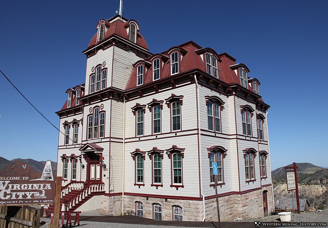 Fourth Ward School in Virginia City, Nevada