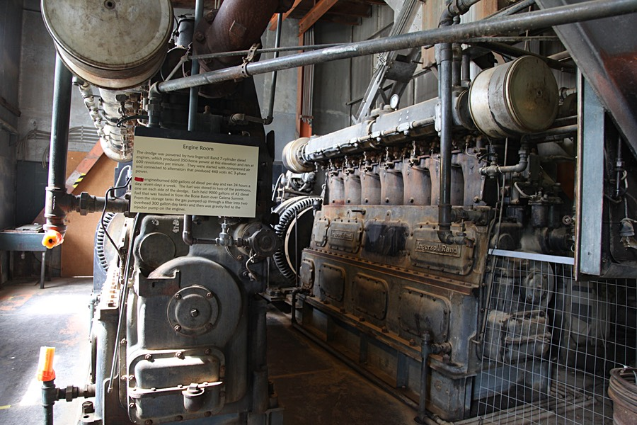 Engine Room of the Yankee Fork Dredge