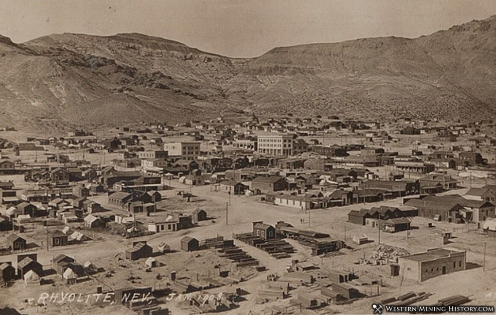 Rhyolite, Nevada in 1908