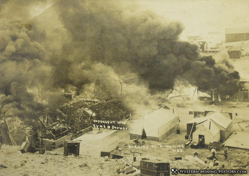 The Rawhide, Nevada fire of 1908