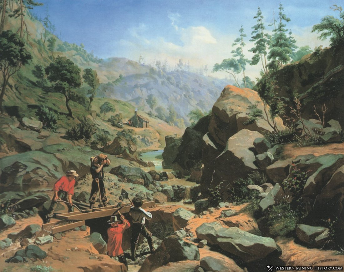 Miners in the Sierra 1851 oil on canvas by Charles Christian Nahl and Frederick August Wenderoth