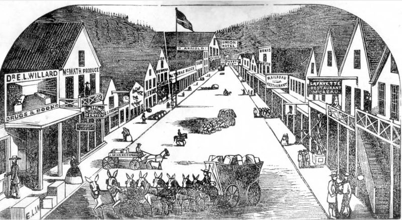 Illustration of La Porte California in 1859