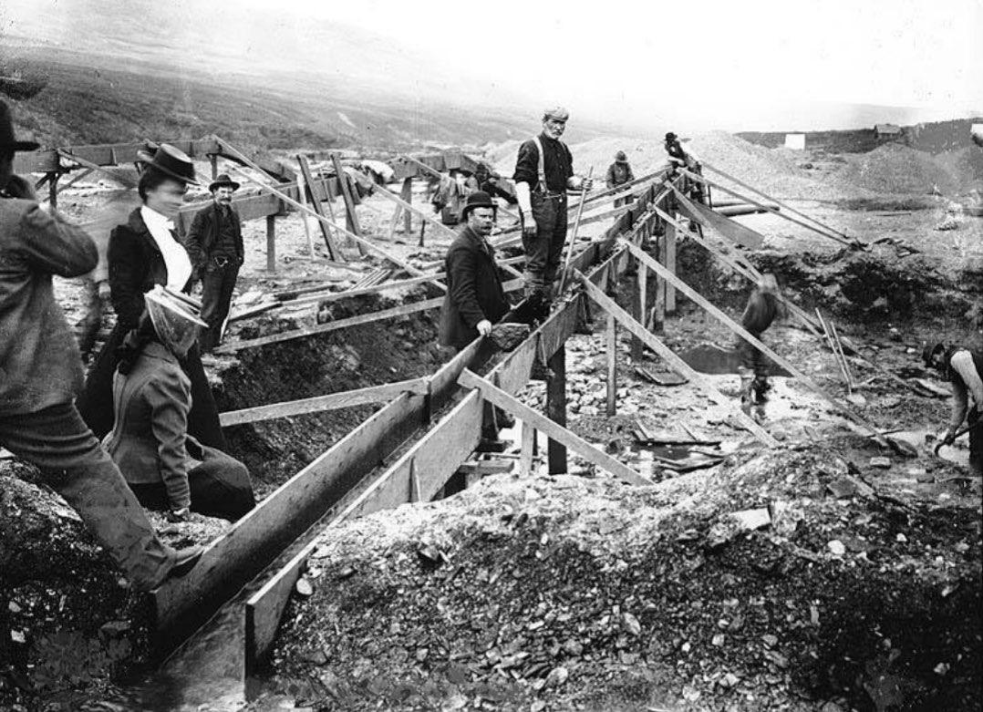 Placer mine near Anvil Creek - Nome Alaska