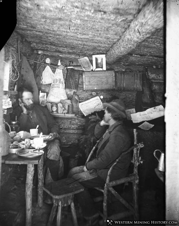Interior view of a miners cabin in Colorado
