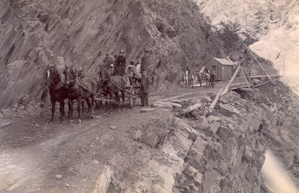 Toll gate on the Otto Mears road ca. 1890