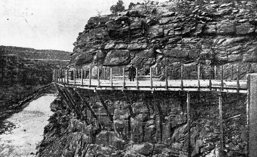 Colorado's hanging flume in 1890