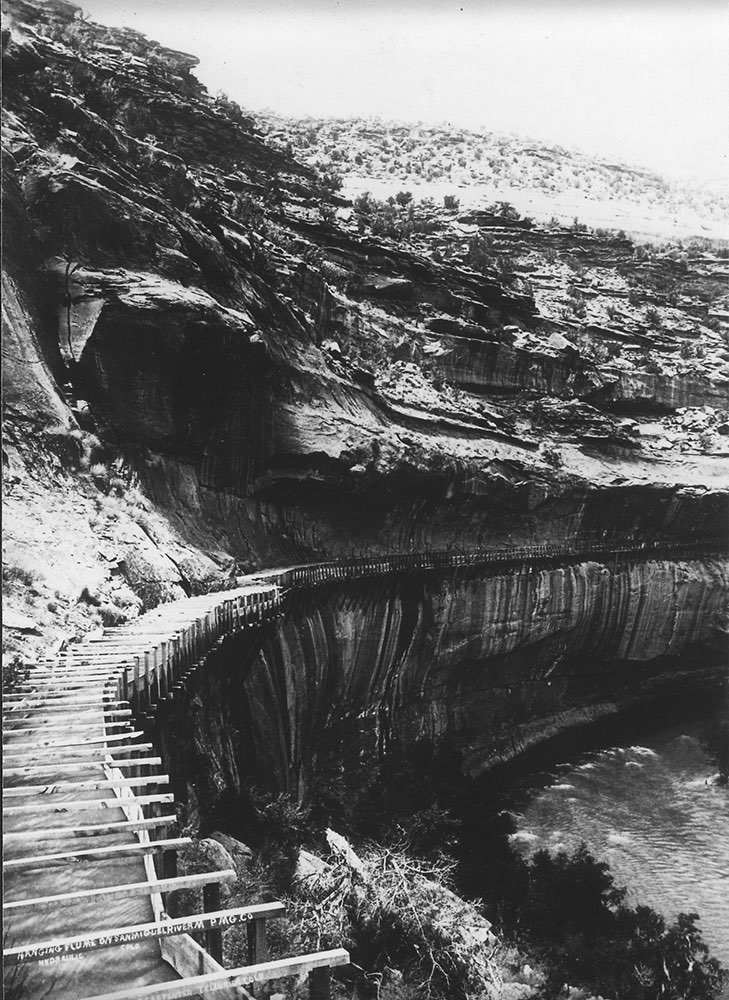 Colorado's hanging flume in 1891
