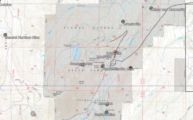Johnsville District Plumas County California