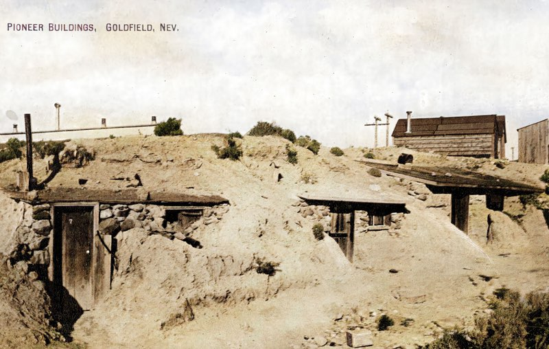 Miner's dugouts at Goldfield, Nevada