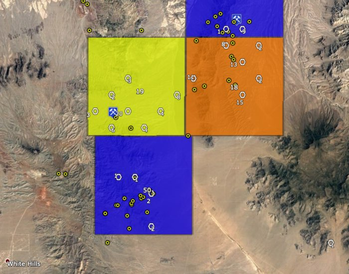 Arizona's Lost Basin and Gold Basin gold mining areas