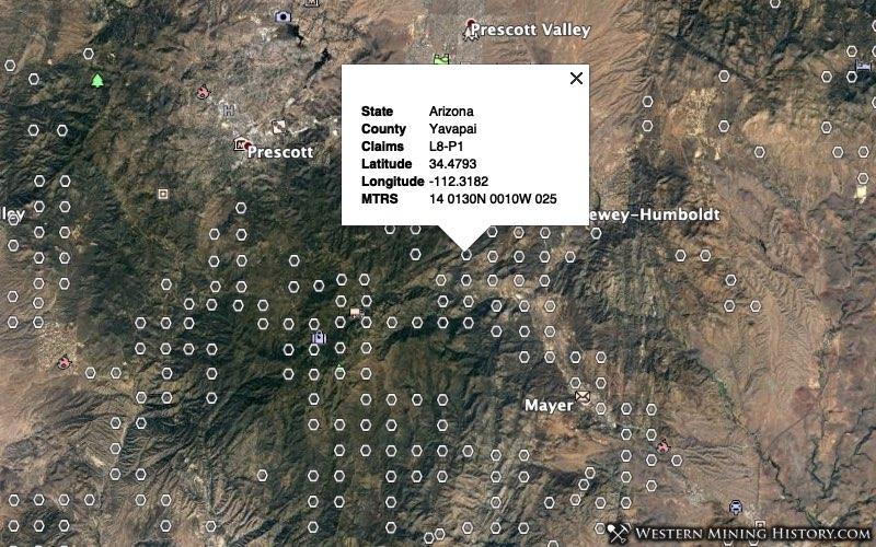 Yavapai County, Arizona mining claims