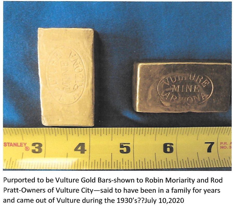 Gold bars from the Vulture Mine