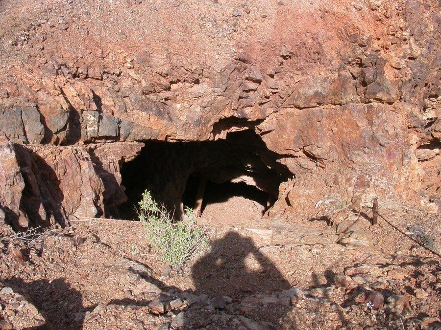 Old mine tunnel at Vulture, Arizona