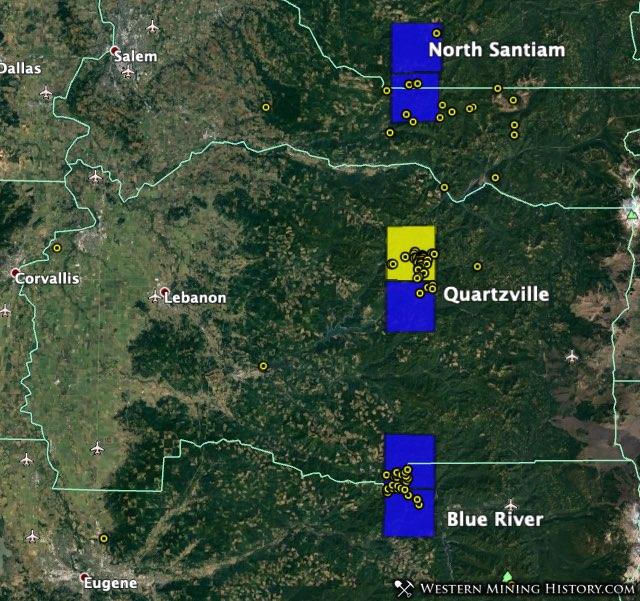 Quartzville gold district