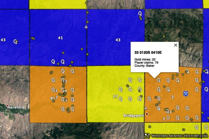 Upper Burnt River gold district - Oregon