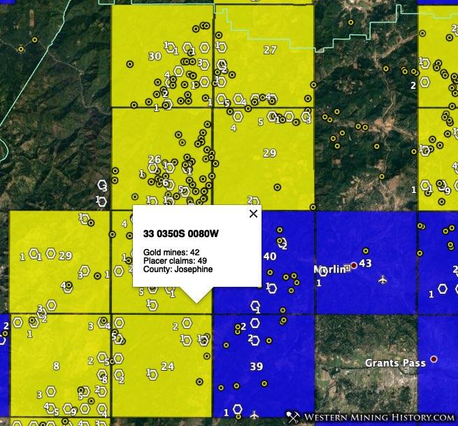 Galice gold district - Josephine County, Oregon