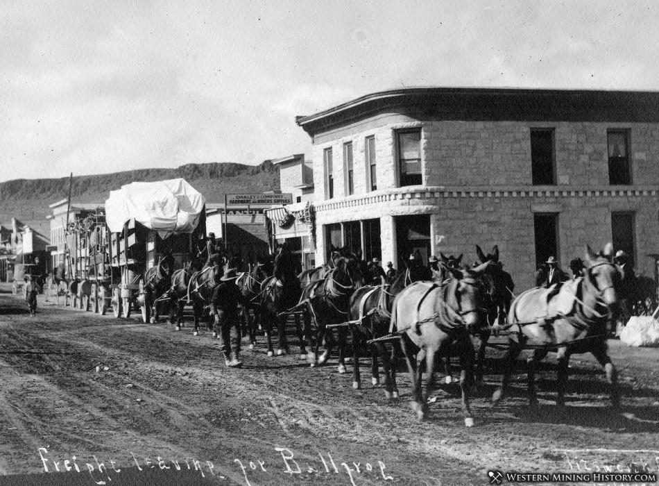 Freight wagons Goldfield Nevada ca. 1906