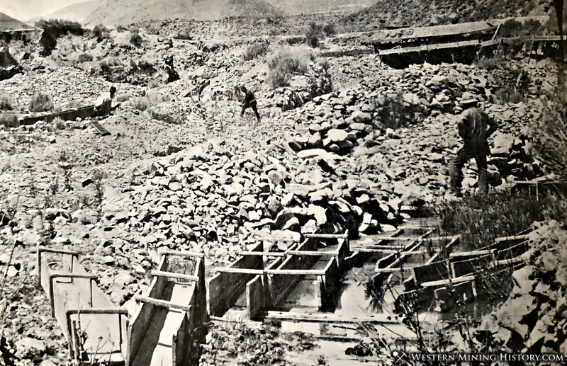 Placer mining scene from Johntown, Nevada