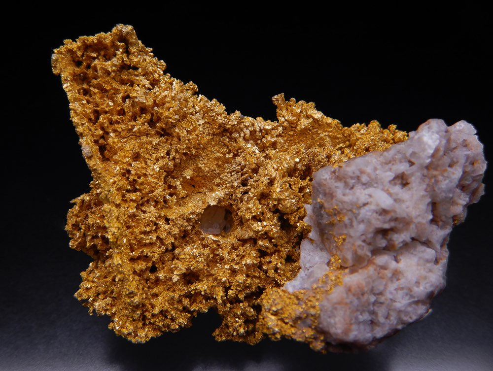 Gold specimen from the Round Mountain mine in Nevada