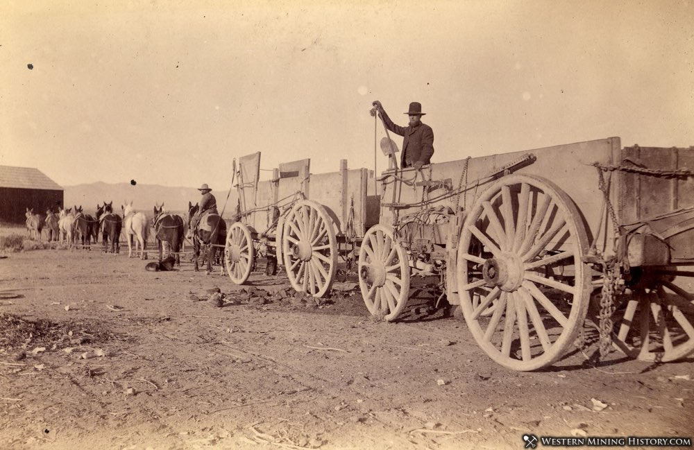 Ore Wagons somewhere in Nevada late 1800s