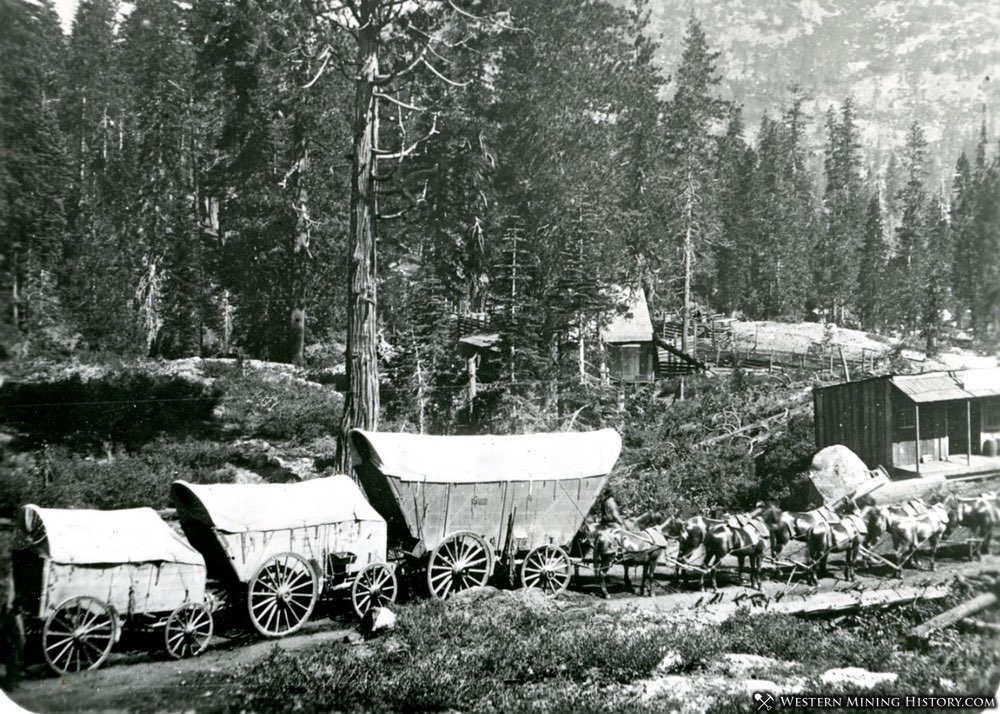 Freight Wagons in the Tahoe Region of California 1860s