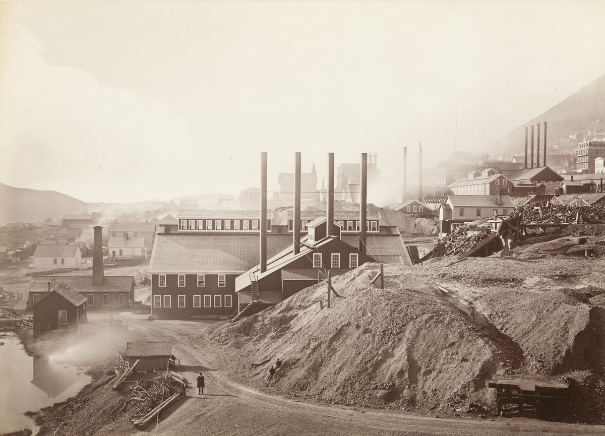 Consolidated Virginia Mill and Hoisting Works, Virginia City, Nevada 1876