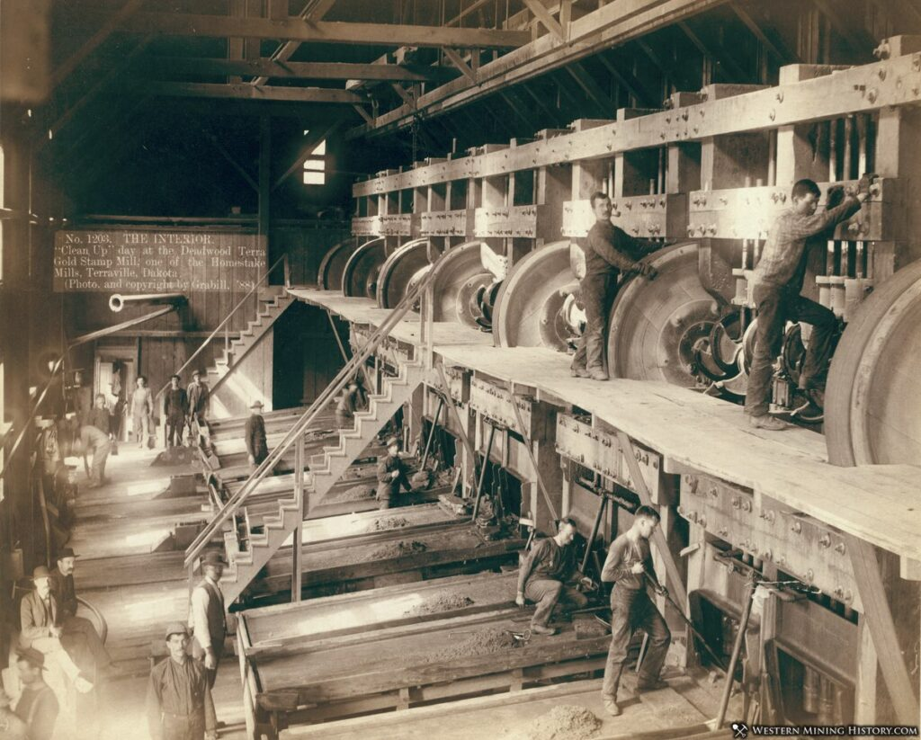 Interior view of the Terra Gold Stamp Mill