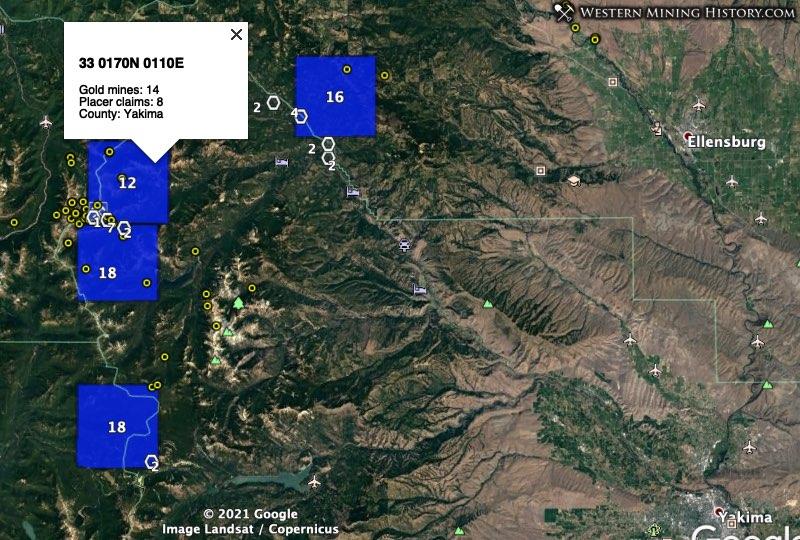 Summit mining district in western Yakima County, Washington