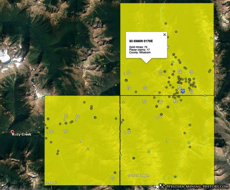 Slate Creek mining district in Whatcom County, Washington