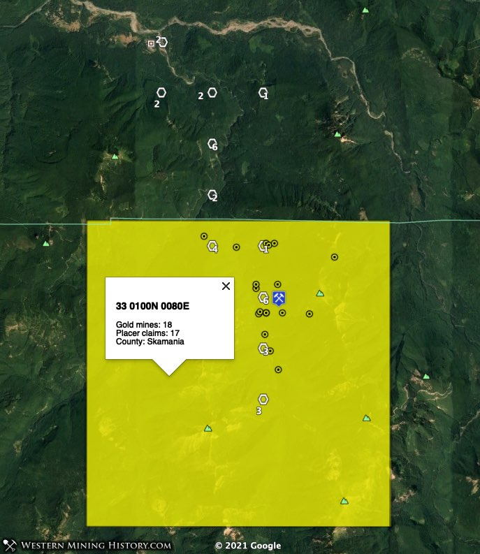 St. Helens mining district in Skamania County, Washington